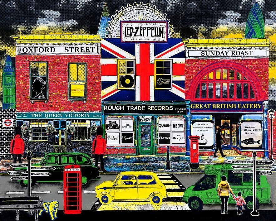 """Best of British"" collage by Emma Mullender"