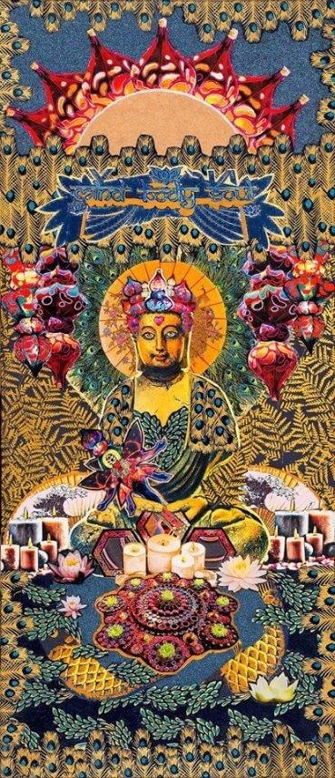 """Funky Buddha"" print artwork by Emma Mullender"