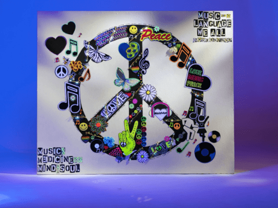 """""""Peace Day"""" assemblage by Emma Mullender"""