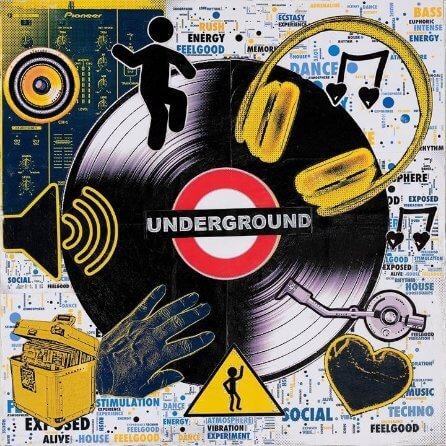 """""""Underground Music"""" collage by Emma Mullender"""
