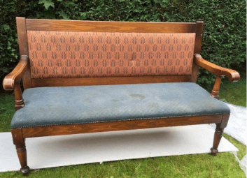 """""""Old Pub Bench"""" before picture by Emma Mullender"""