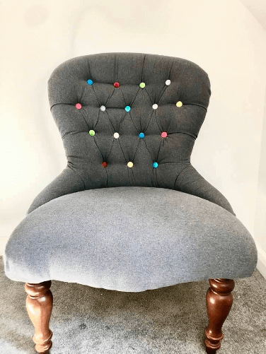 """""""Bedroom Chair"""", Modern Upholstery by Emma Mullender"""