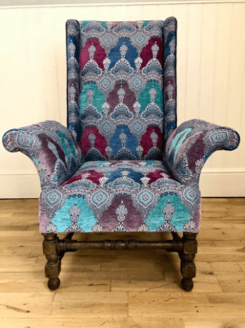 """""""High Wingback Chair"""" Traditional Upholstery by Emma Mullender"""