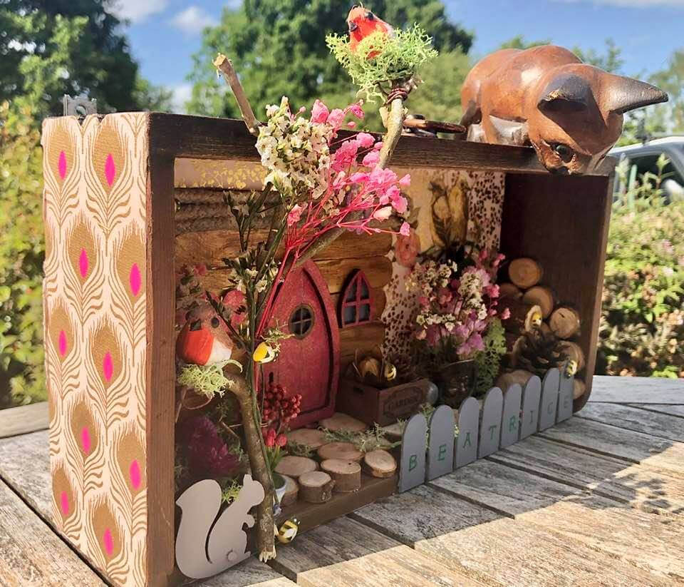 """Garden in a drawer"" side detail by Emma Mullender"